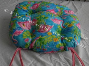 Flamingo Beach Decor Chair Cushion
