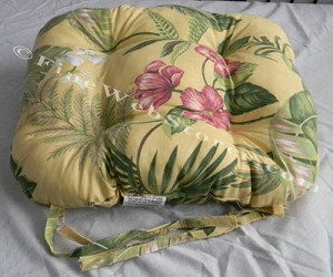 Yellow Tropical Beach Decor Chair Cushion