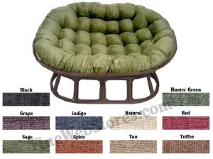 Love Seat Papasan Chenille Fabric Replacement Cushion