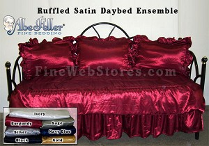 Satin Daybed Cover Set Ruffled