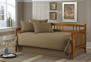 Solid Khaki Daybed Cover Set