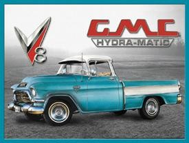 GMC Truck Hydramatic Tin Sign