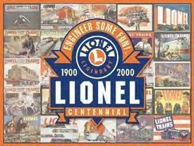 Lionel Trains Centennial Tin Sign