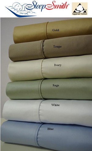 Olympic Queen Size 1000 Thread Count Egyptian Cotton Sheets Solid