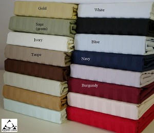 Expanded Queen Size 600 Thread Count Egyptian Cotton Sheets Striped