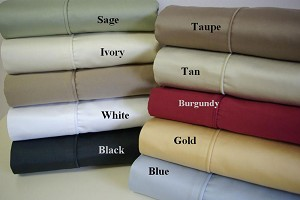 Olympic Queen Size 550 Thread Count Egyptian Cotton Solid Sheets