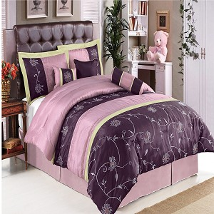 Grand Park Purple 11 Piece Bed In A Bag
