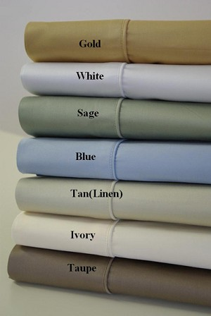 California King Size 450 Thread Count Egyptian Cotton Sheets Solid