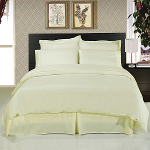 Solid Ivory 8 Piece Soft Microfiber Bedding Set