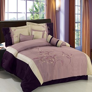 Santa Fe Purple 7 Piece Comforter Set