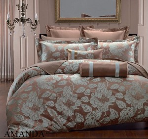 Amanda Full/Queen 7 Piece Hotel Collection Duvet Cover Set