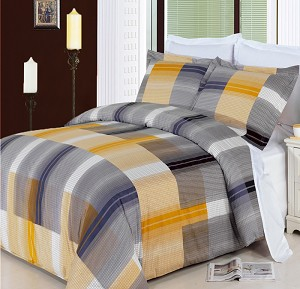 3 Piece Amber Full/Queen 300 Thread Count Egyptian Cotton Duvet Cover Set