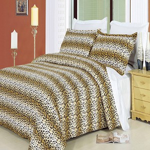 Cheetah King/California King Egyptian Cotton 300 Thread Count 3 Piece Duvet Cover Set
