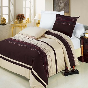 Clarice Embroidered King/California King Egyptian Cotton 3 Piece Duvet Cover Set