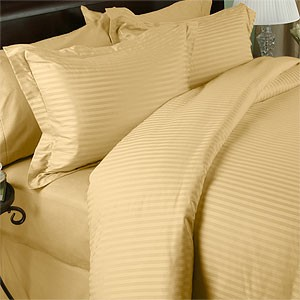 3 Piece King/California King Sateen Stripe 600 Thread Count Egyptian Cotton Duvet Cover Set