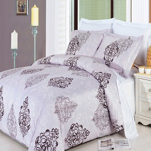 3 Piece Gizelle Full/Queen 300 Thread Count Egyptian Cotton Duvet Cover Set