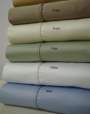 Full Or Double Size 550 Thread Count Egyptian Cotton Sheets Solid