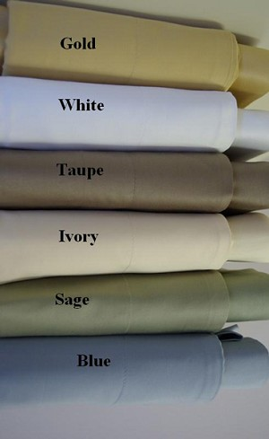 King Size 1200 Thread Count Egyptian Cotton Sheets Solid Color
