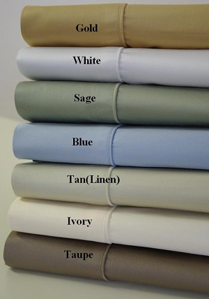 King Size 450 Thread Count Egyptian Cotton Sheets Solid