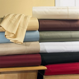 King Waterbed Size Unattached 600 Thread Count Egyptian Cotton Sheets Stripe