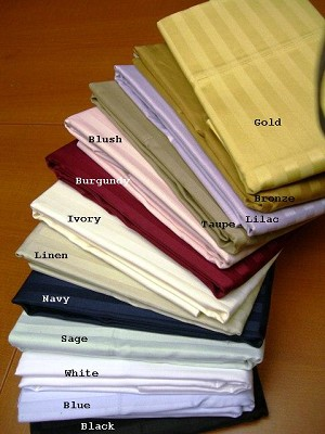 Pair Of Standard Size 600 Thread Count Egyptian Cotton Pillowcases
