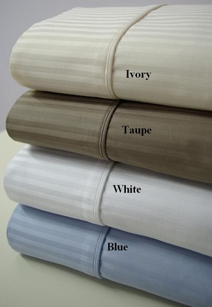 Queen Size 1000 Thread Count Egyptian Cotton Sheets Striped