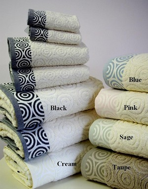 6 Piece Water Weaves Egyptian Cotton Towel Set