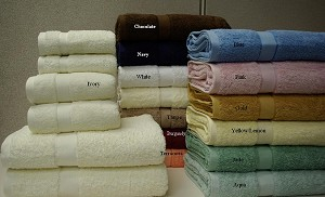 6 Piece Solid Combed Egyptian Cotton Towel Set