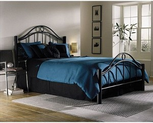 Linden Bed Set With Frame Ebony