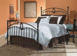 Coronado Bed Set With Frame Tarnished Copper