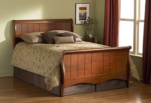 Shelby Mahogany Finish Headboard