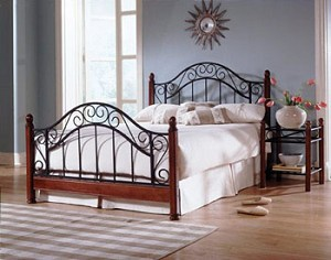 Frisco Matte Black And Maple Finish Headboard