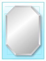 "Octagon Frameless Mirror 20"" x 30"""