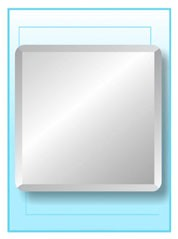 Square Frameless Mirror 24""