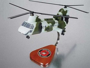 CH-46 Marines Military Helicopter Model