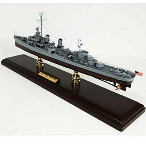 WWII Fletcher Class Destroyer Model Ship