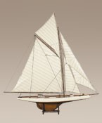 America's Cup Columbia 1901 Medium French Finish Model Sail Boat