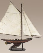 Yacht Ironsides Small Model Sail Boat