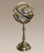 Bronze Armillary Dial with Galaxy Sphere