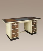 Captain's Desk Ivory Nautical Decor