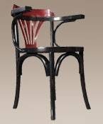 Navy Chair Black Nautical Decor