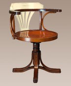 Purser's Chair Ivory and Honey Nautical Decor