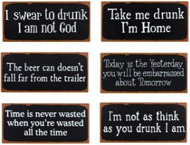 Rusty Bar Metal Signs Set of 6