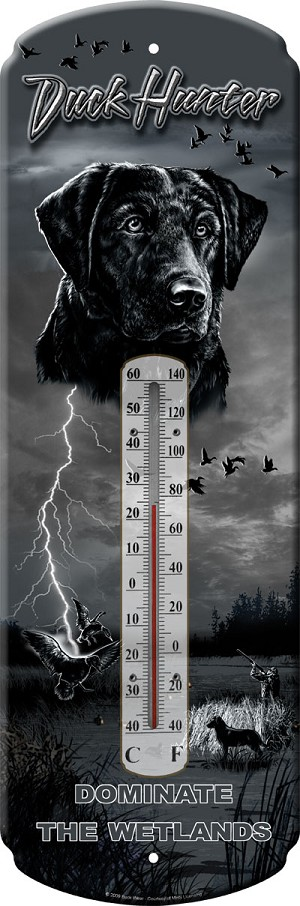 Duck Hunter Decorative Outdoor Thermometer