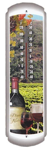 Wine Decorative Outdoor Thermometer