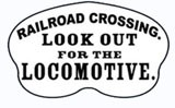 Look Out Crossing Railroad Sign Metal