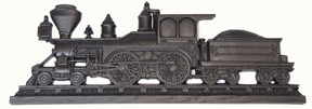 Locomotive 3D wall art with coal car Coal Black
