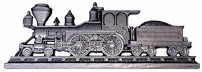 Locomotive 3D wall art with coal car Bright Silver