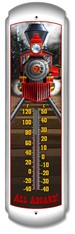Train Decorative Outdoor Thermometer