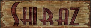 Shiraz Word Antiqued Wood Sign